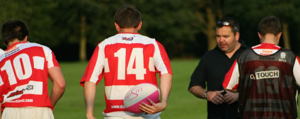 Andy C Coaching with Lusum rugby Balls